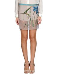 Blumarine - Gray Mini Skirt - Lyst