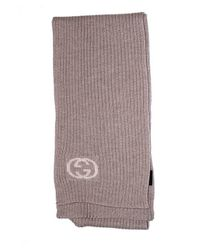 Gucci - Brown Knit Scarf - Lyst
