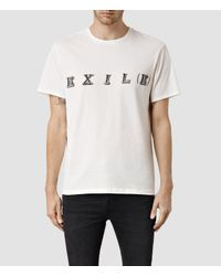 AllSaints | White Exiled Crew T-shirt for Men | Lyst