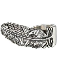 King Baby Studio | Metallic Sterling Silver Raven Feather Ring | Lyst