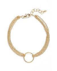 Dogeared | Metallic 'karma' Four Strand Bracelet | Lyst