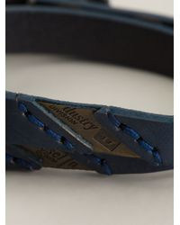 DIESEL | Blue 'Ageft' Bracelet for Men | Lyst