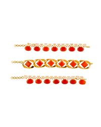 Bounkit | Metallic Carnelian & Moonstone Necklace | Lyst