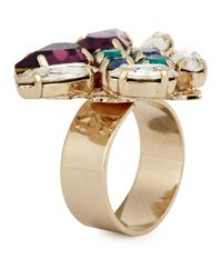 Anton Heunis | Metallic Amethyst And Swarovski Crystal Ring | Lyst