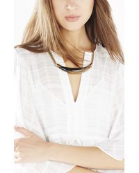 BCBGMAXAZRIA | Brown Faux Horn Necklace | Lyst