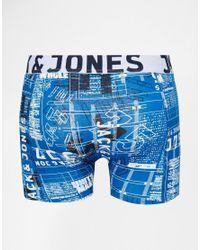 Jack & Jones | Multicolor 3 Pack Trunks In Constructed Print for Men | Lyst