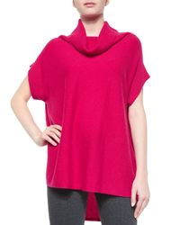 Vince - Red Slouchy Ribbed Turtleneck Sweater - Lyst