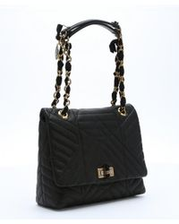 Lanvin - Black Quilted Lambskin 'happy Classic' Medium Shoulder Bag - Lyst