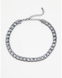 ASOS - Metallic Chain Choker Necklace - Lyst