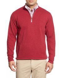 Peter Millar | Green 'auckland' Water Resistant Quarter Zip Pullover for Men | Lyst