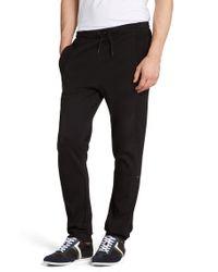 BOSS Green Black Regular-fit Jogging Trousers 'hakibo' In Cotton for men