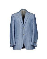 Canali | Blue Blazer for Men | Lyst