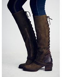 Free People | Green Freebird By Steven Womens Coal Tall Boot | Lyst