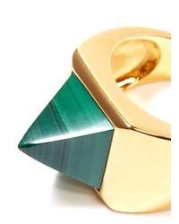 Eddie Borgo - Green Malachite Stone Ring - Lyst