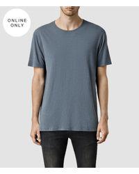 AllSaints - Blue Mattiaf Crew T-shirt for Men - Lyst