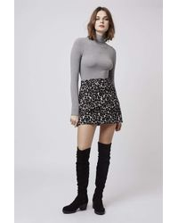 TOPSHOP | Gray Long Sleeved Funnel Body | Lyst