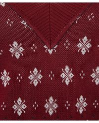 Rag & Bone - Red Burgundy Diamond Jacquard Knit Jumper - Lyst