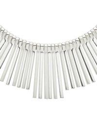 John Lewis | Metallic Matte Fan Silver Necklace | Lyst