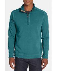 Tommy Bahama | Blue 'ben & Terry' Half Zip Pullover for Men | Lyst