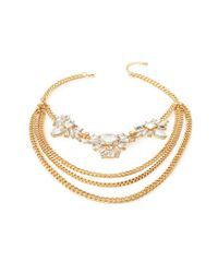 Forever 21 - White Layered Chain Statement Necklace You've Been Added To The Waitlist - Lyst