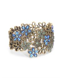 Oscar de la Renta - Multicolor Crystal Flower Bracelet - Lyst