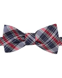 Tommy Hilfiger | Blue Plaid To-tie Bow Tie for Men | Lyst
