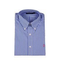 Ralph Lauren - Blue Shirt Botton Down Popeline Custom Fit Row for Men - Lyst