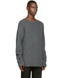 3.1 Phillip Lim - Gray Grey Knit Sweater for Men - Lyst