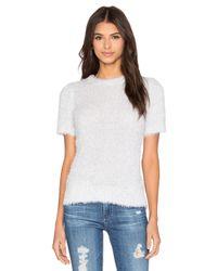 525 America - Blue Feather Yarn Short Sleeve Sweater - Lyst