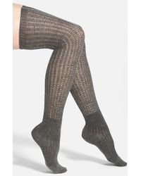 Vince Camuto | Gray Lightweight Over The Knee Socks | Lyst