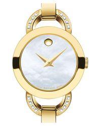 Movado - Metallic 'rondiro' Diamond Bangle Watch - Lyst