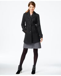 INC International Concepts | Gray Button-front Peacoat, Only At Macy's | Lyst