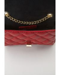 Forever 21 | Red Quilted Faux Leather Crossbody | Lyst