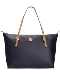 Tommy Hilfiger - Blue Th Shopper Pebble Large Tote - Lyst