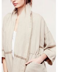 Free People - Natural At The Seams Slouchy Jacket - Lyst