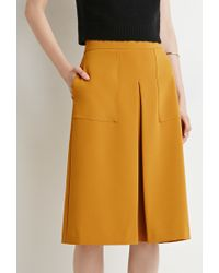 Forever 21 | Orange Inverted Pleat A-line Skirt | Lyst