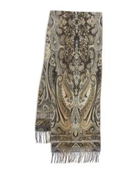Lord & Taylor | Brown Paisley Knit Scarf | Lyst