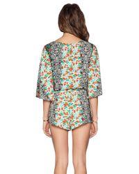 Michael Stars - Multicolor Kimono Sleeve Romper - Lyst