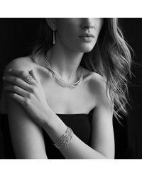 David Yurman - Metallic Willow Fiverow Bracelet with Diamonds - Lyst