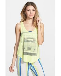 Rip Curl - Yellow 'roadie' Graphic Tank - Lyst