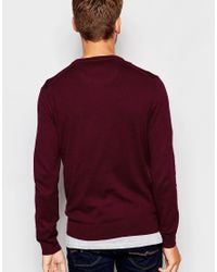 Esprit | Purple Cashmere Mix V Neck Jumper for Men | Lyst