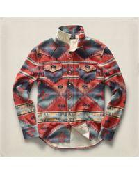 RRL - Multicolor Fleece Western Sport Shirt for Men - Lyst