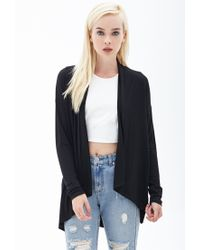Forever 21   Black Classic Knit Cardigan   Lyst