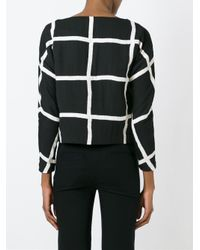 Valentine Gauthier - Black Checked Blouse - Lyst