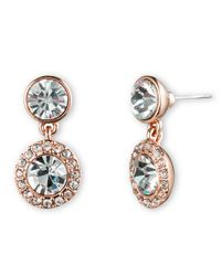 Givenchy | Pink Swarovski Crystal Pave Drop Earrings | Lyst
