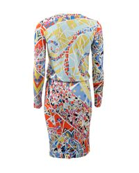 Emilio Pucci | Multicolor Mosaico Print Dress | Lyst