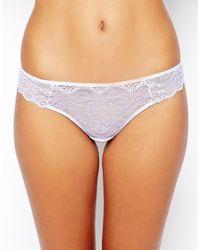 ASOS - White Lace Thong - Lyst