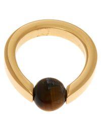 Chloé - Metallic Gold-Tone Darcey Single Stone Ring - Lyst