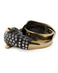 Iosselliani | Black 'bohemian Dark Knight' Cheetah Ring | Lyst