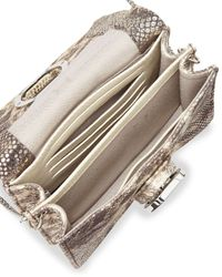 Halston - Metallic Mini Accordion Square Bag - Lyst
